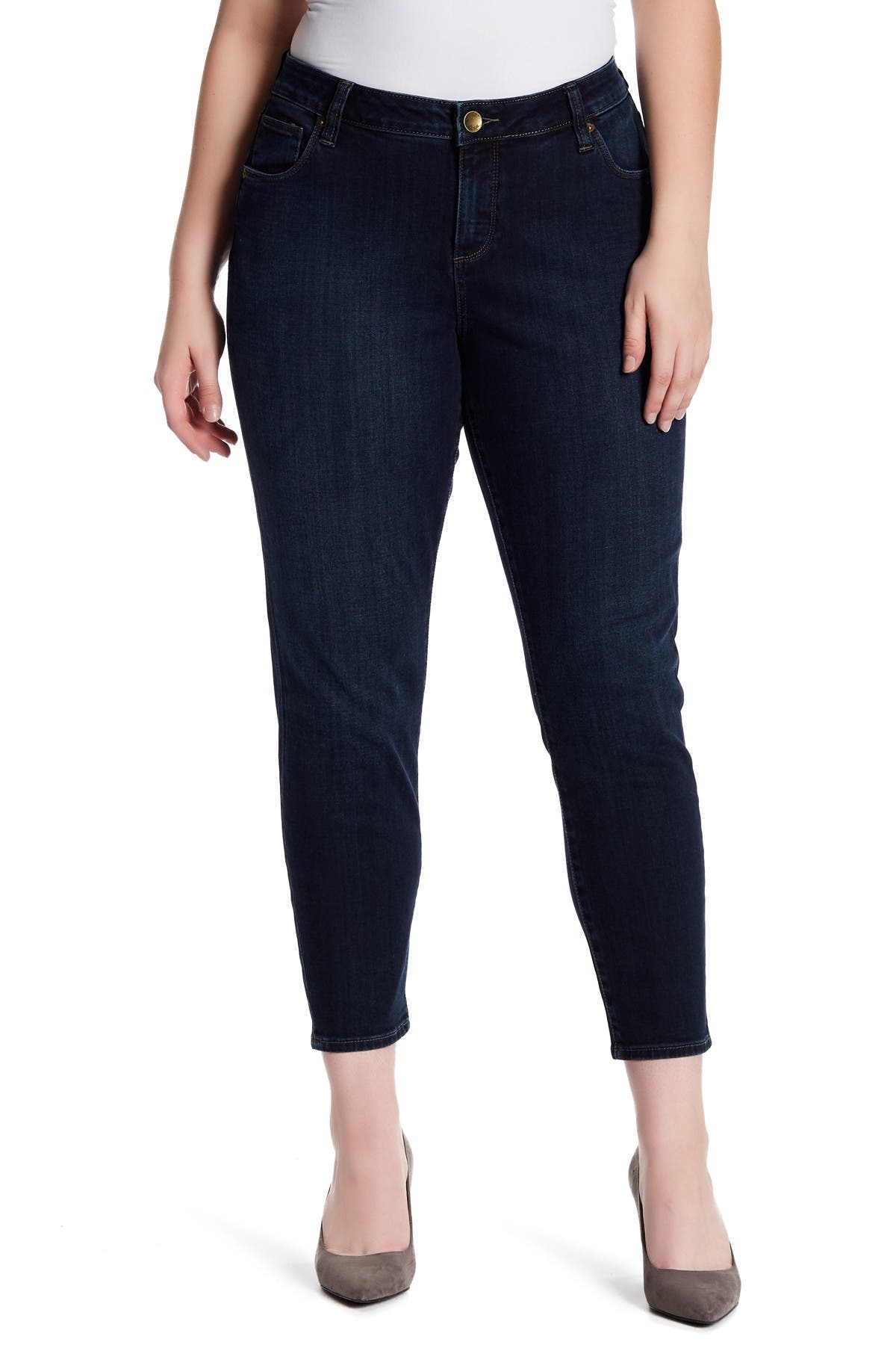 Image of KUT from the Kloth Ankle Straight Leg Jeans