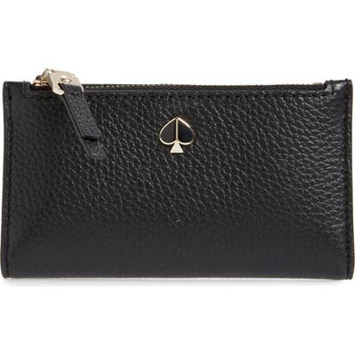 Kate Spade New York Small Polly Slim Bifold Wallet - Black