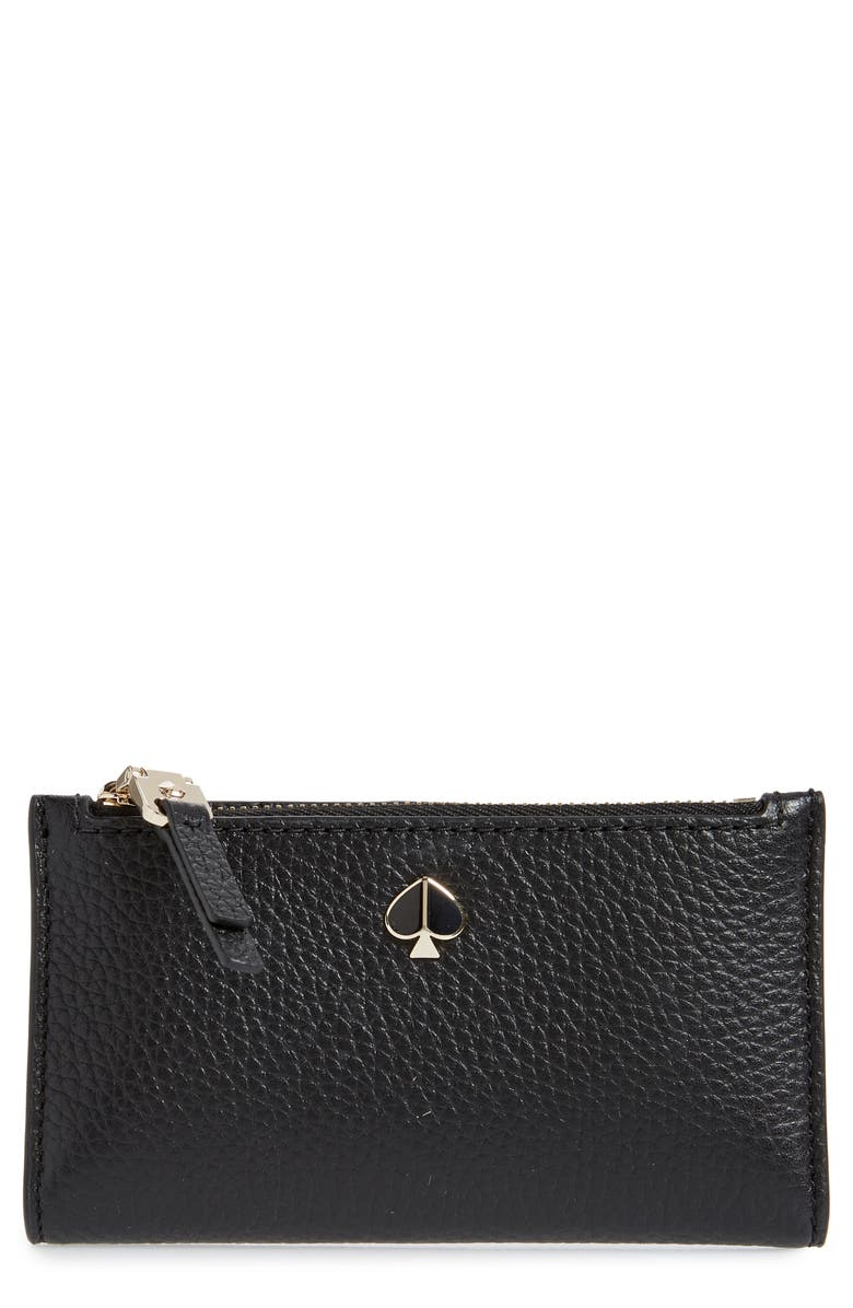 KATE SPADE NEW YORK small polly slim bifold wallet, Main, color, 001