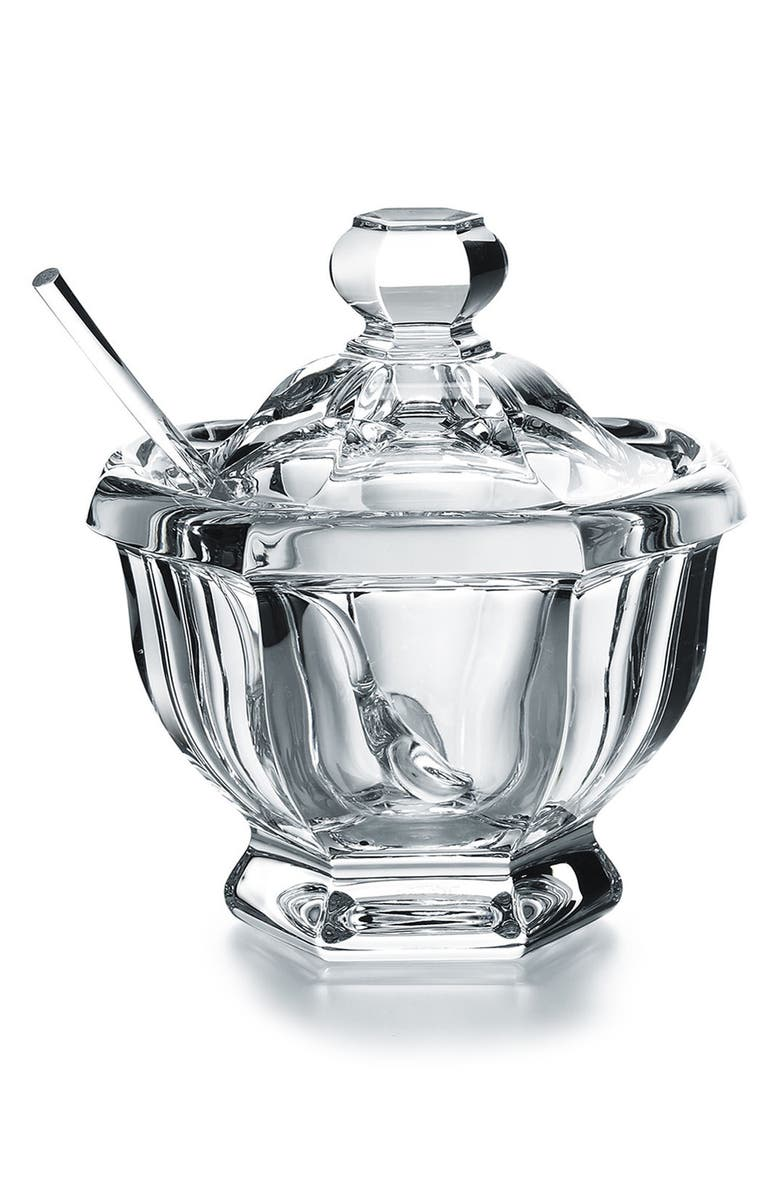BACCARAT Harcourt Missouri Lead Crystal Jam Jar, Main, color, CLEAR