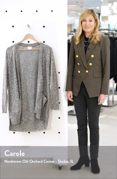 Linen Blend Open Front Cardigan, sales video thumbnail