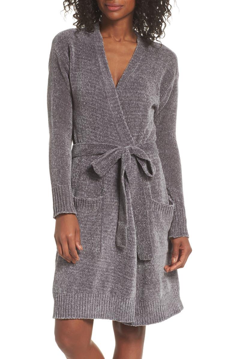 NORDSTROM LINGERIE Short Chenille Robe, Main, color, 030