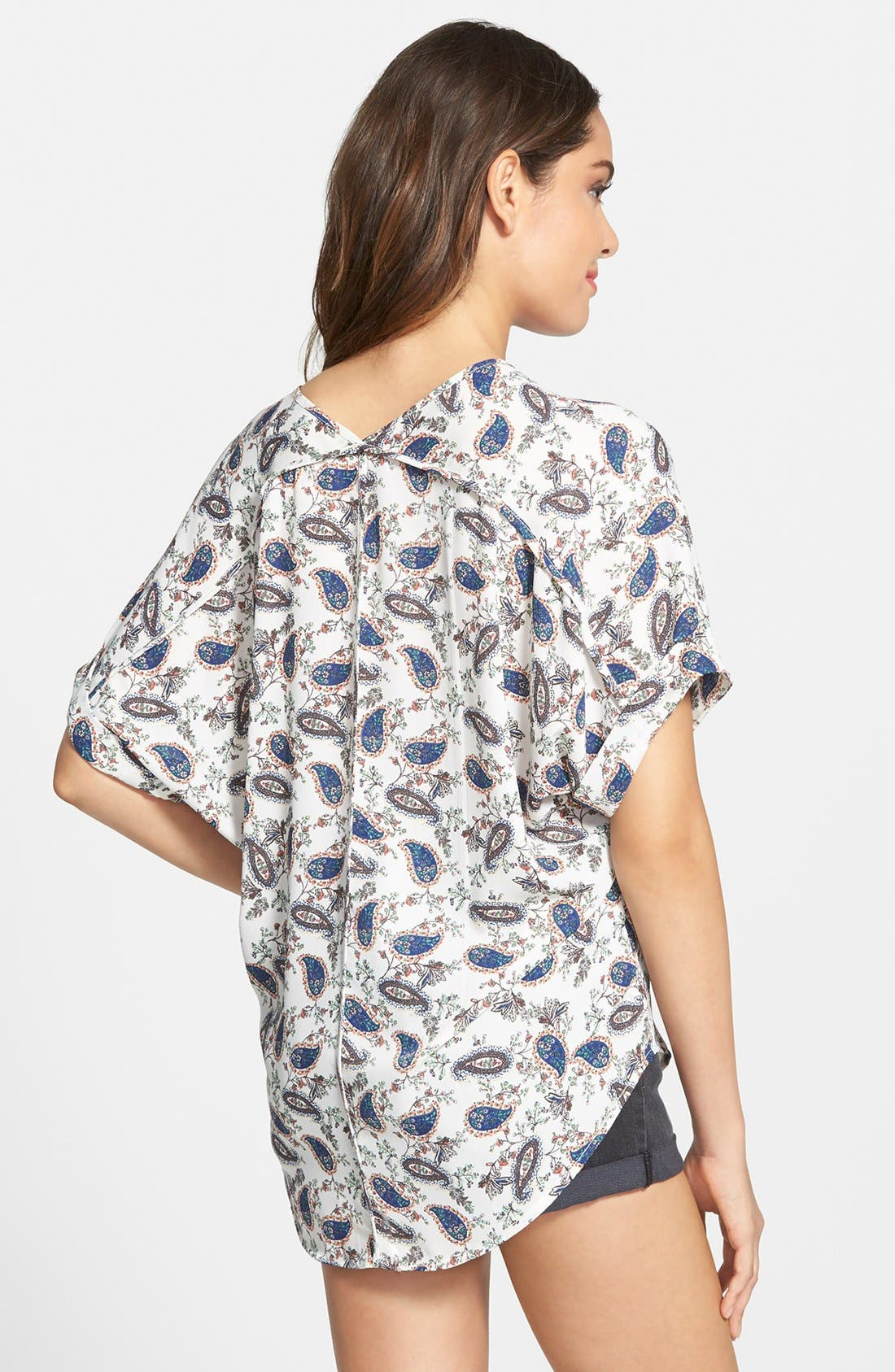 ,                             Lush Cuff Sleeve Woven Tee,                             Alternate thumbnail 186, color,                             902