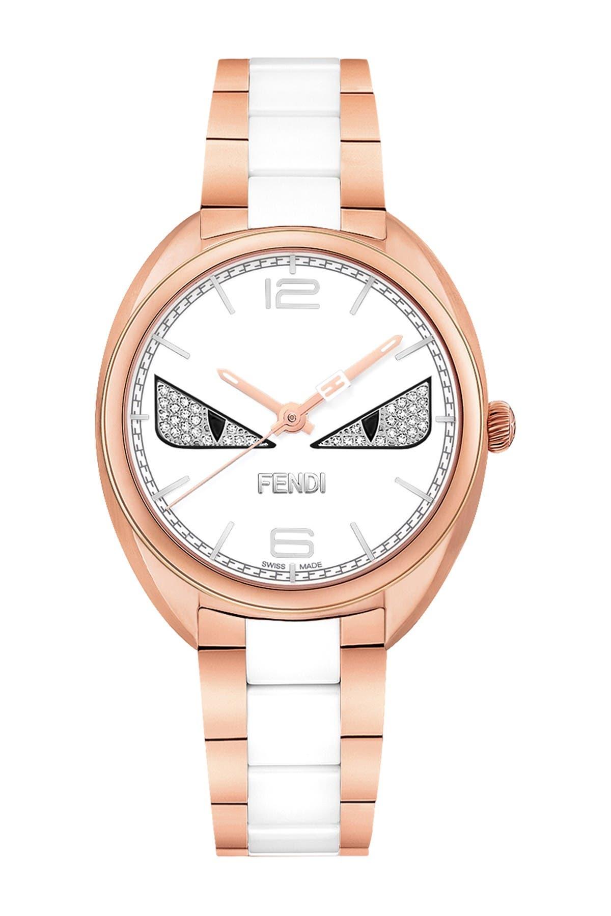 Image of FENDI Women's Momento Fendi Bugs Quartz Bracelet Watch, 34mm