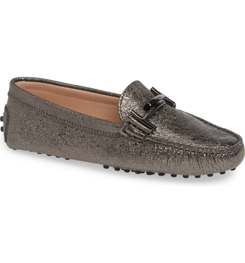 TOD'S Gommini Double T Metallic Driving Moccasin, Main, color, 041