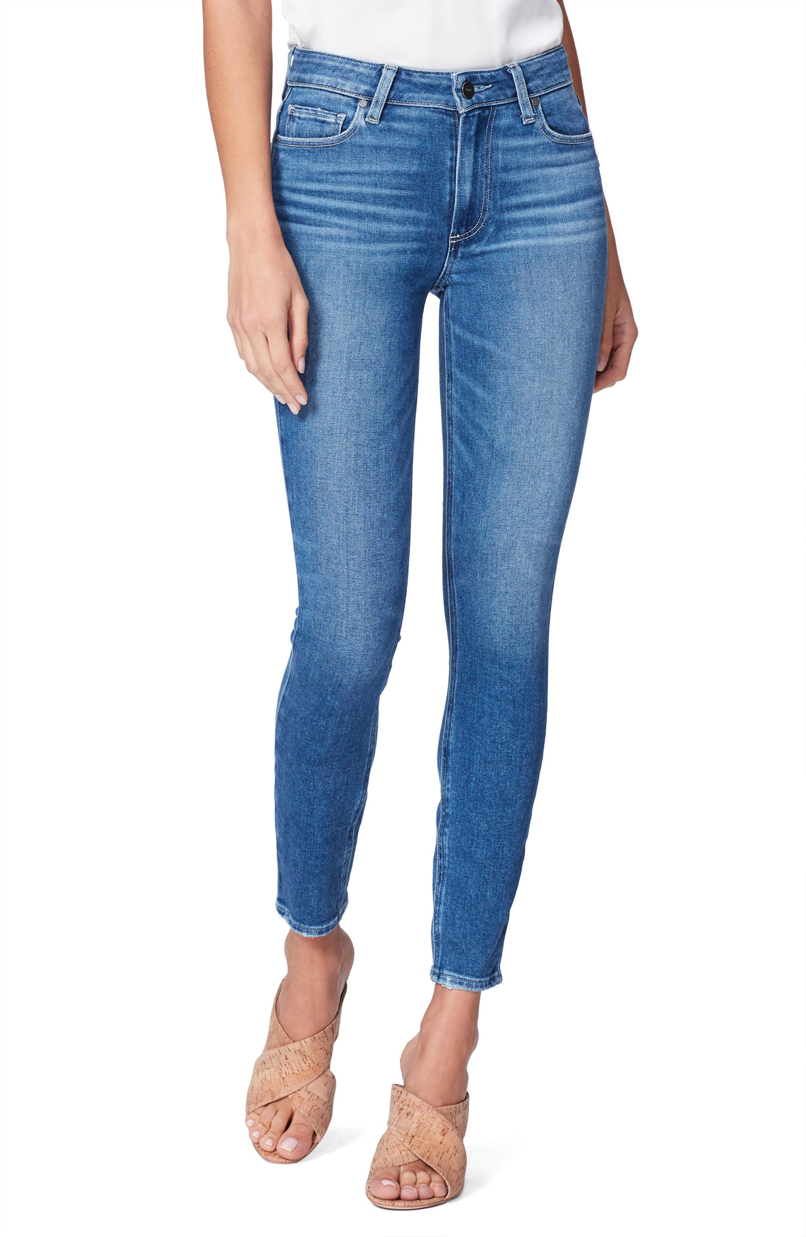 Image of PAIGE Hoxton High Waist Ankle Skinny Jeans