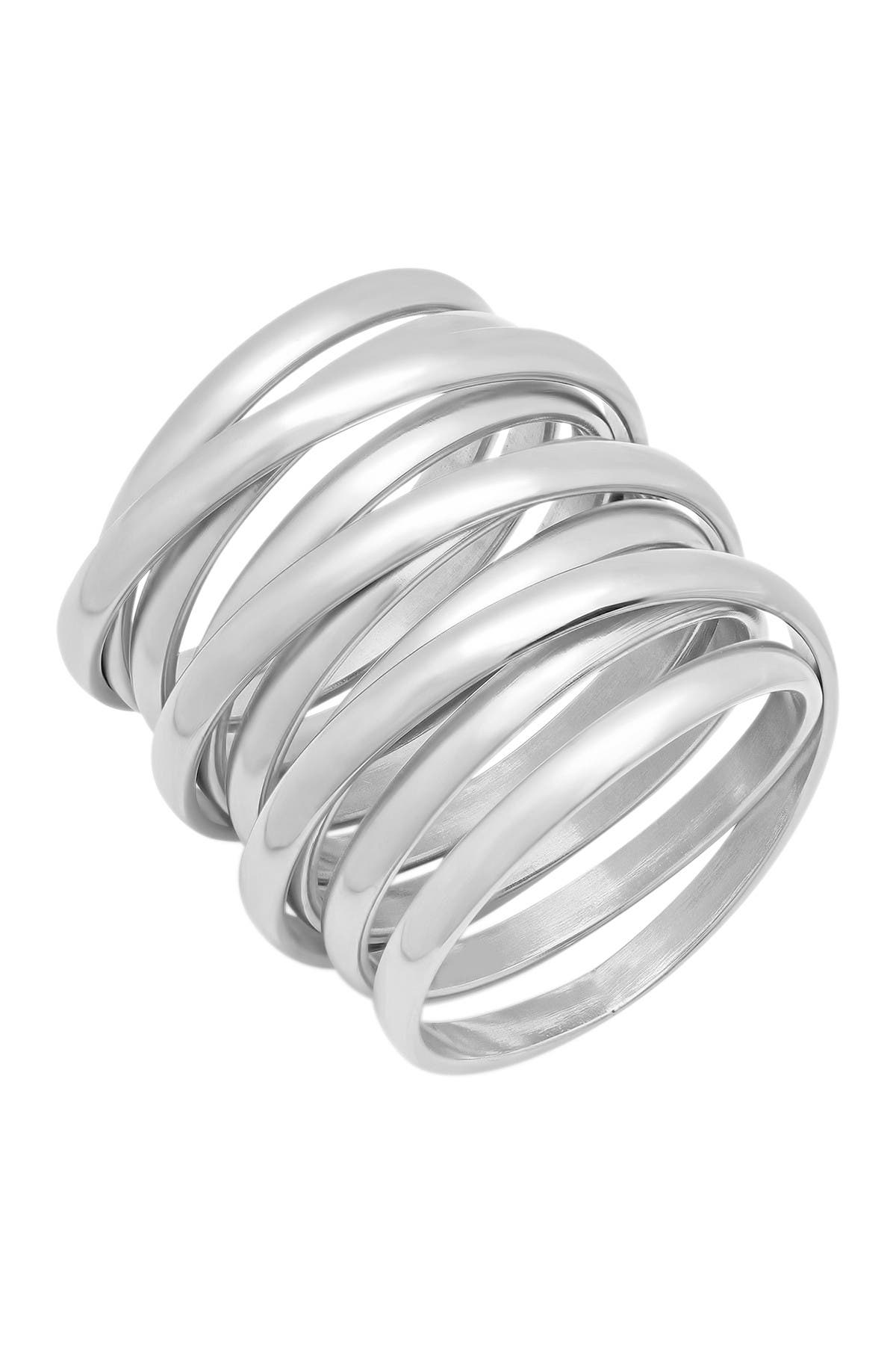 Image of HMY Jewelry Stainless Steel Multiwrap Ring