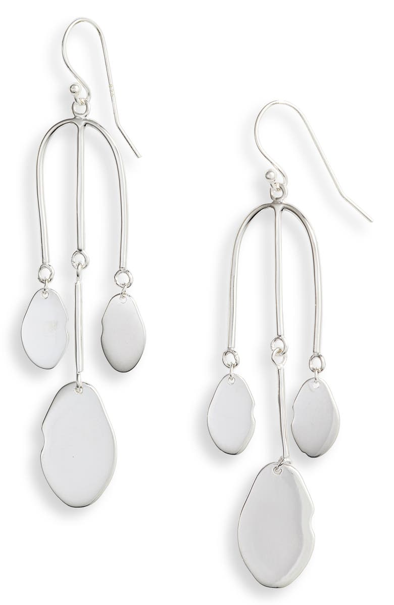Mirror Charm Drop Earrings by Argento Vivo