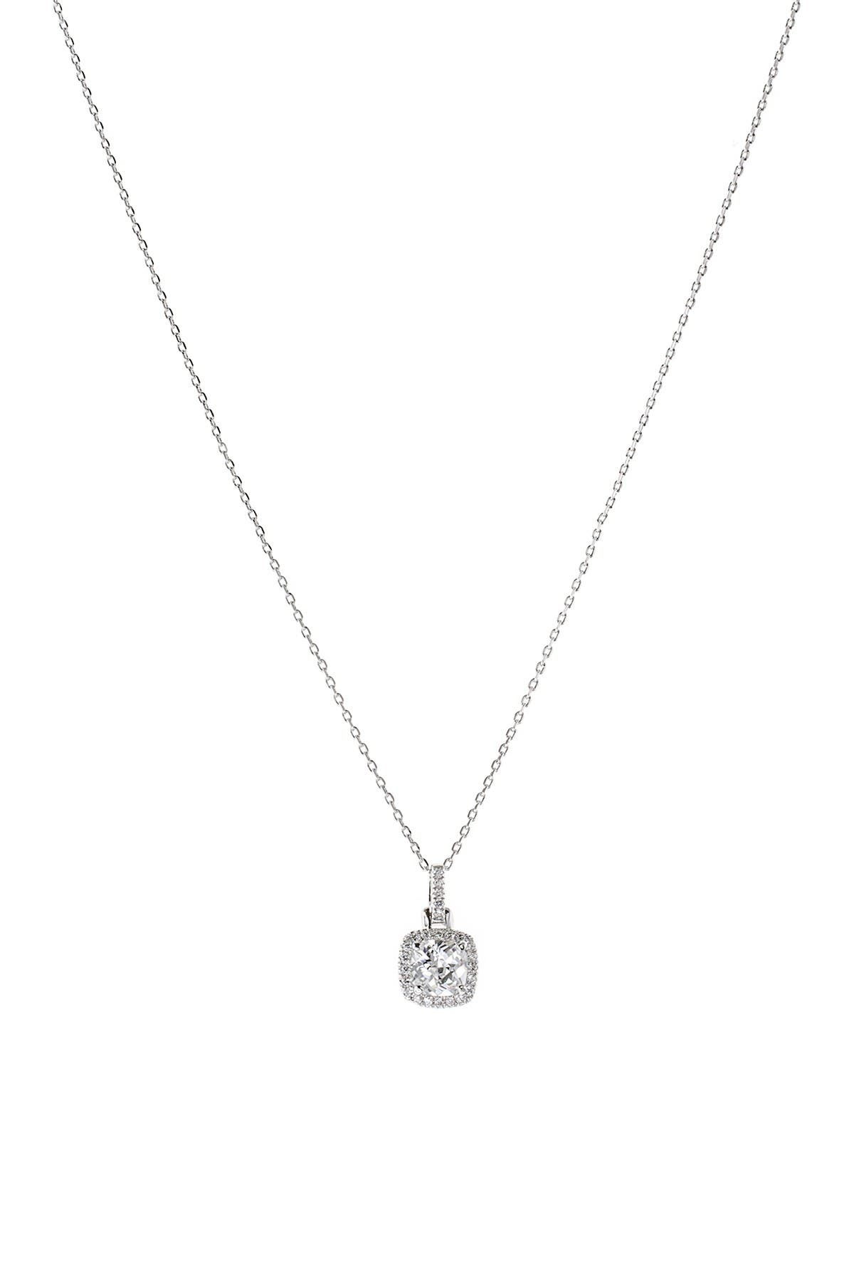 Image of CZ By Kenneth Jay Lane Cushion CZ Pendant Necklace