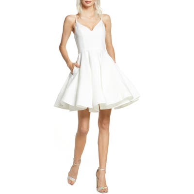 MAC Duggal Fit & Flare Party Dress, White
