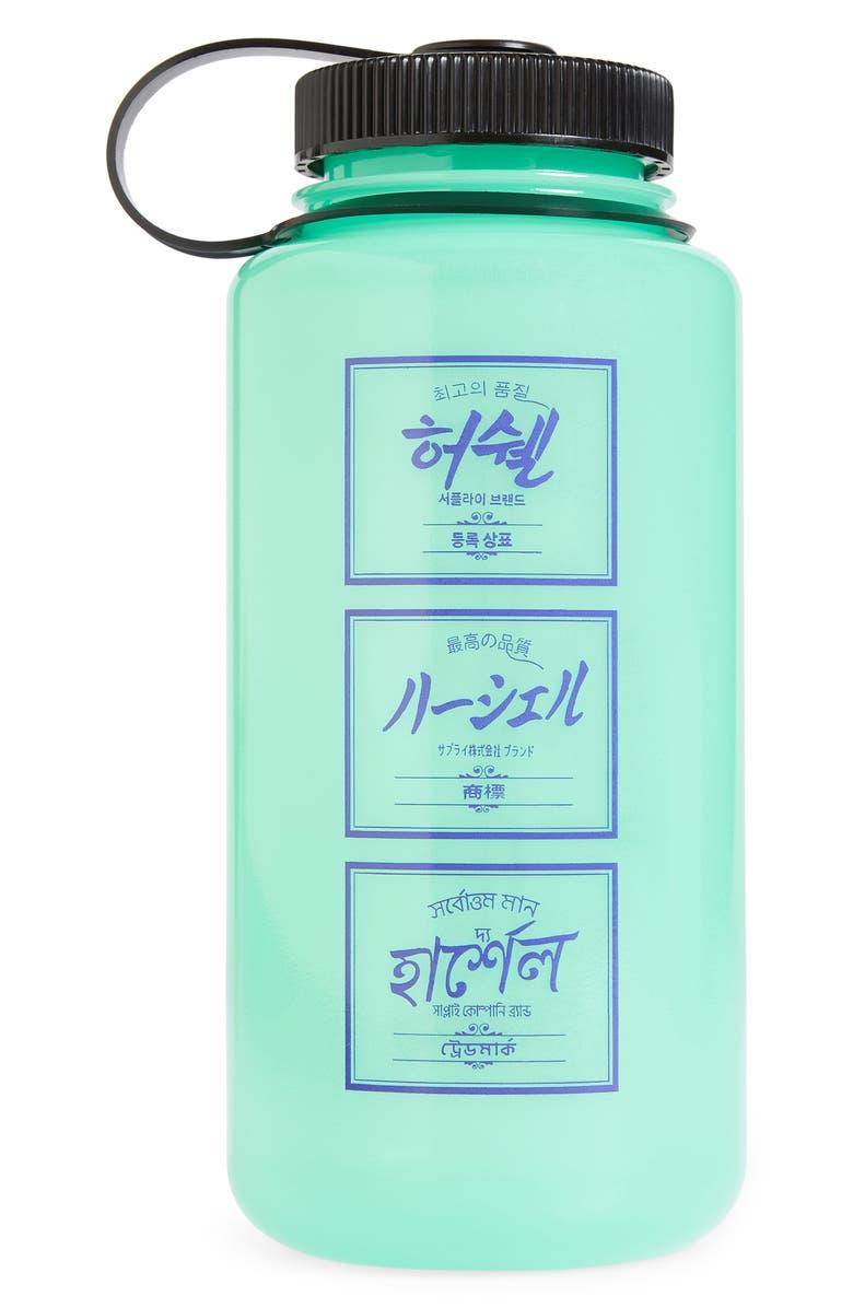 NALGENE x Herschel 32-Ounce Water Bottle, Main, color, GLOW GREEN
