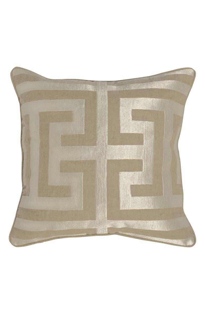 VILLA HOME COLLECTION 'Capital' Decorative Pillow, Main, color, NATURAL/ SILVER