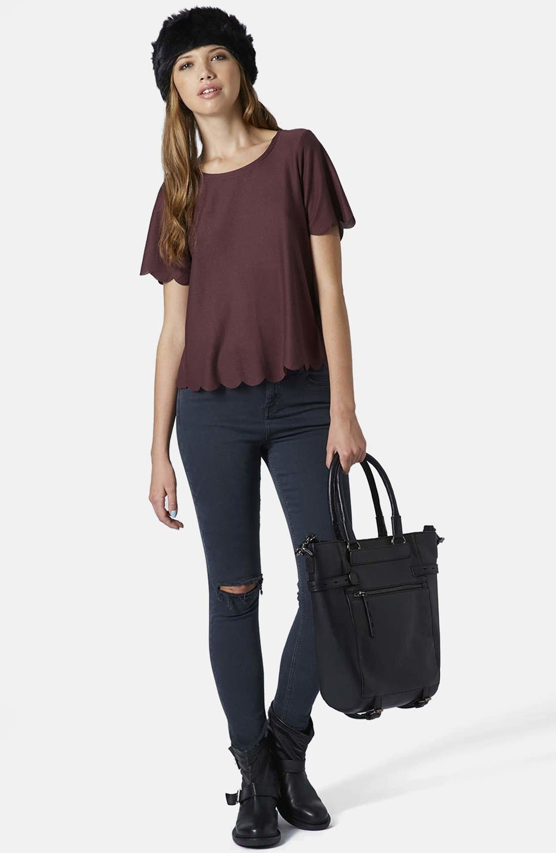 ,                             Scallop Frill Tee,                             Alternate thumbnail 40, color,                             930