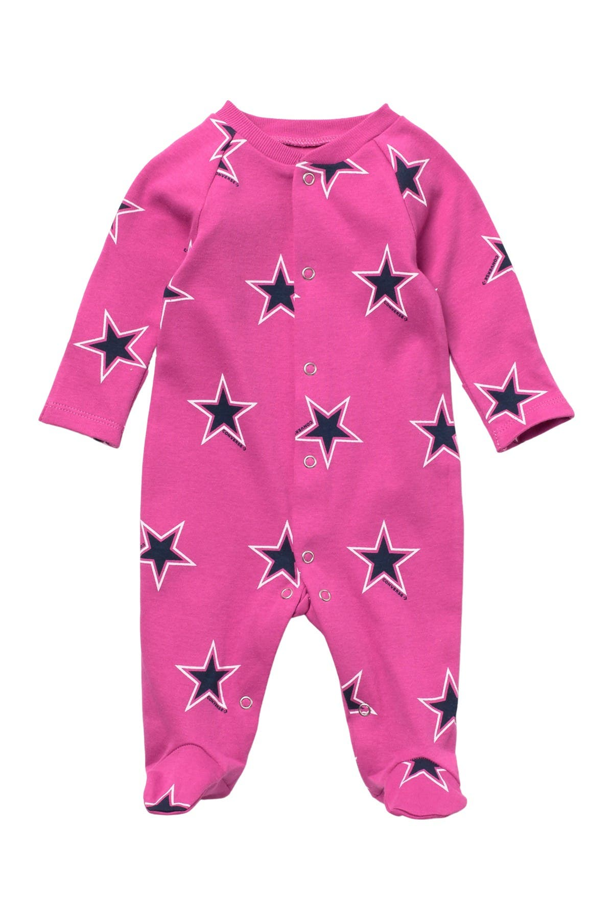 Image of Converse Retro Print Footed Coverall