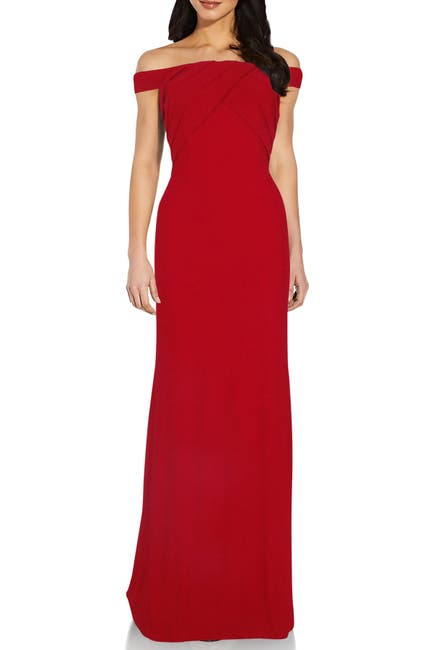 Image of Adrianna Papell Off-The-Shoulder Gown