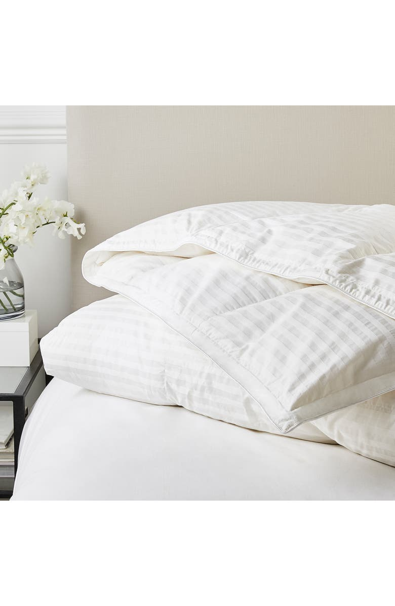 THE WHITE COMPANY Medium Warmth Hungarian Goose Down & Feather Comforter, Main, color, 100