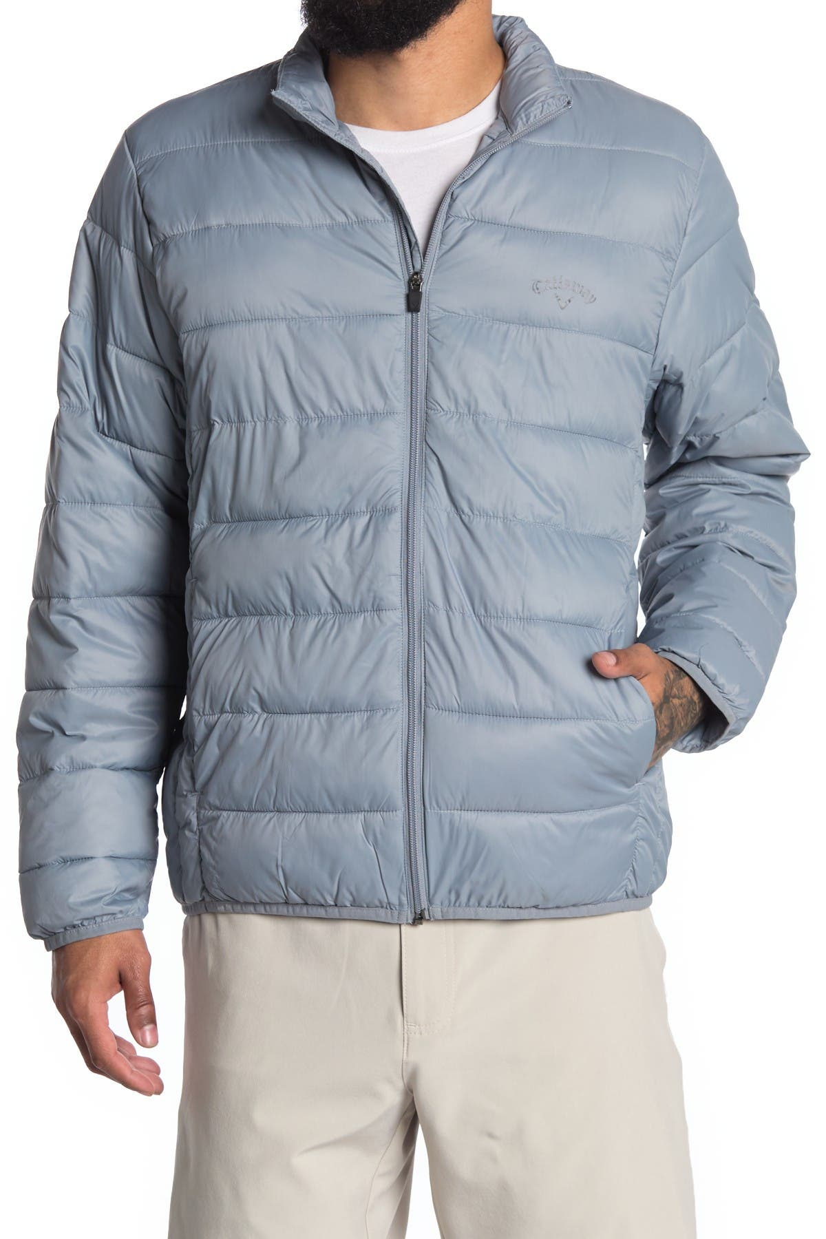 Image of CALLAWAY GOLF Smu Long Sleeve Faux Down Puffer Jacket