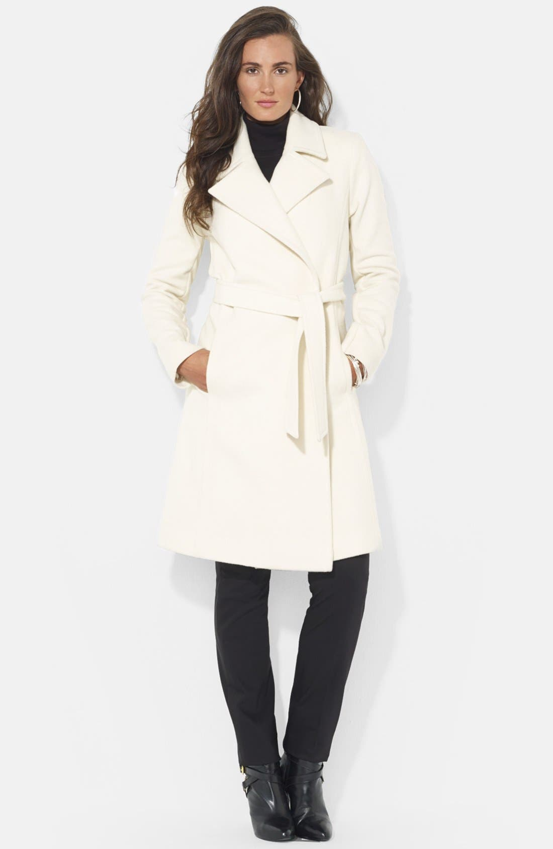 ,                             Wool Blend Wrap Coat,                             Main thumbnail 34, color,                             900