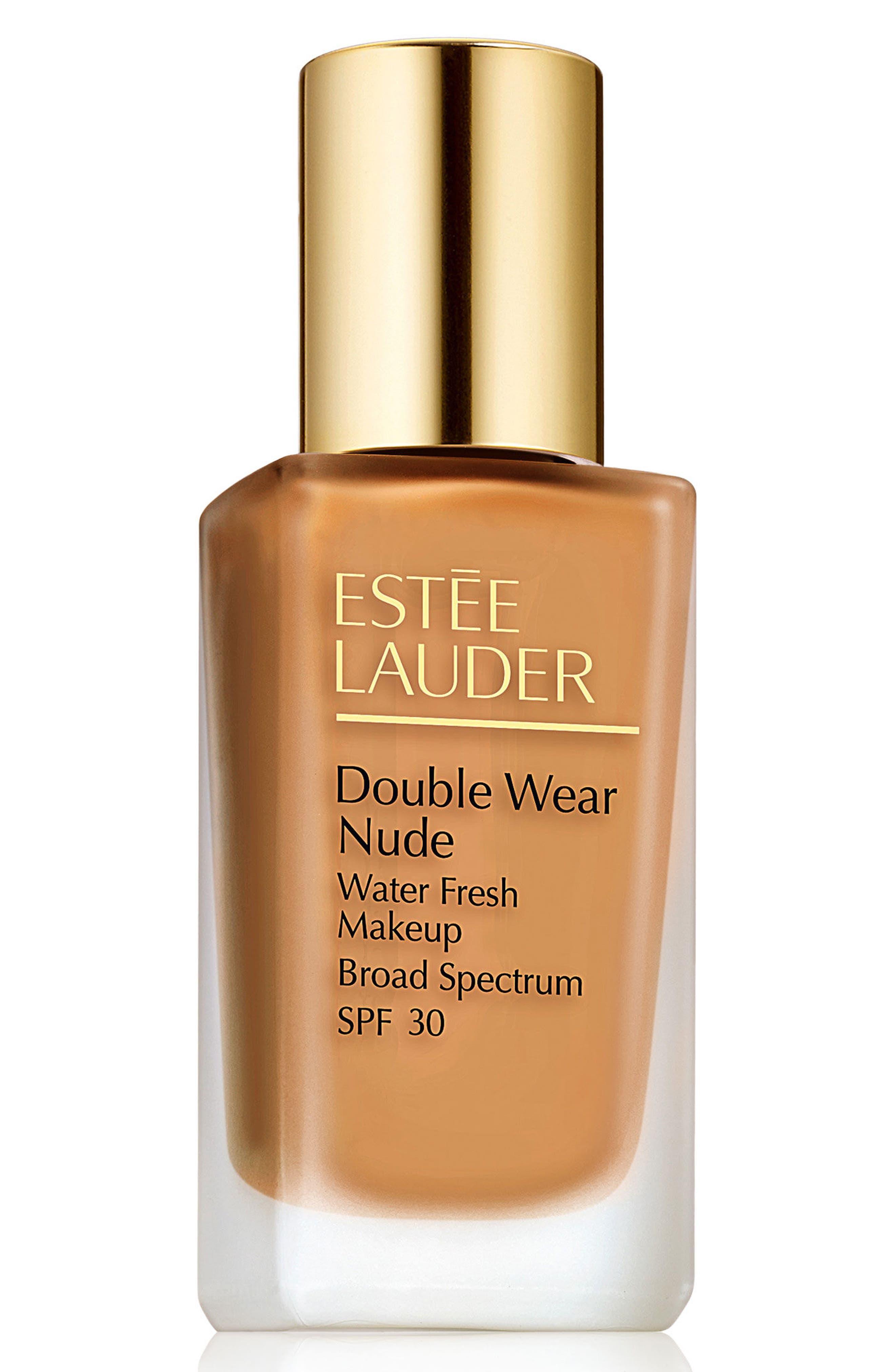 ,                             Double Wear Nude Water Fresh Makeup Broad Spectrum SPF 30,                             Main thumbnail 1, color,                             5W1 BRONZE