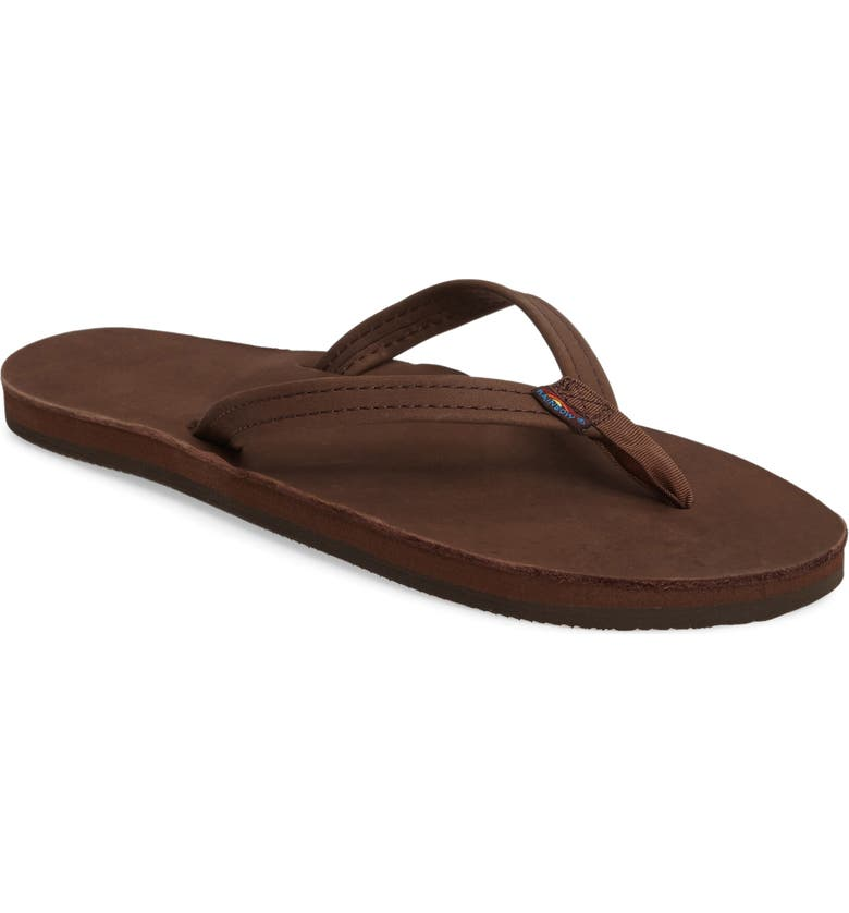 RAINBOW<SUP>®</SUP> Rainbow Narrow Strap Sandal, Main, color, EXPRESSO