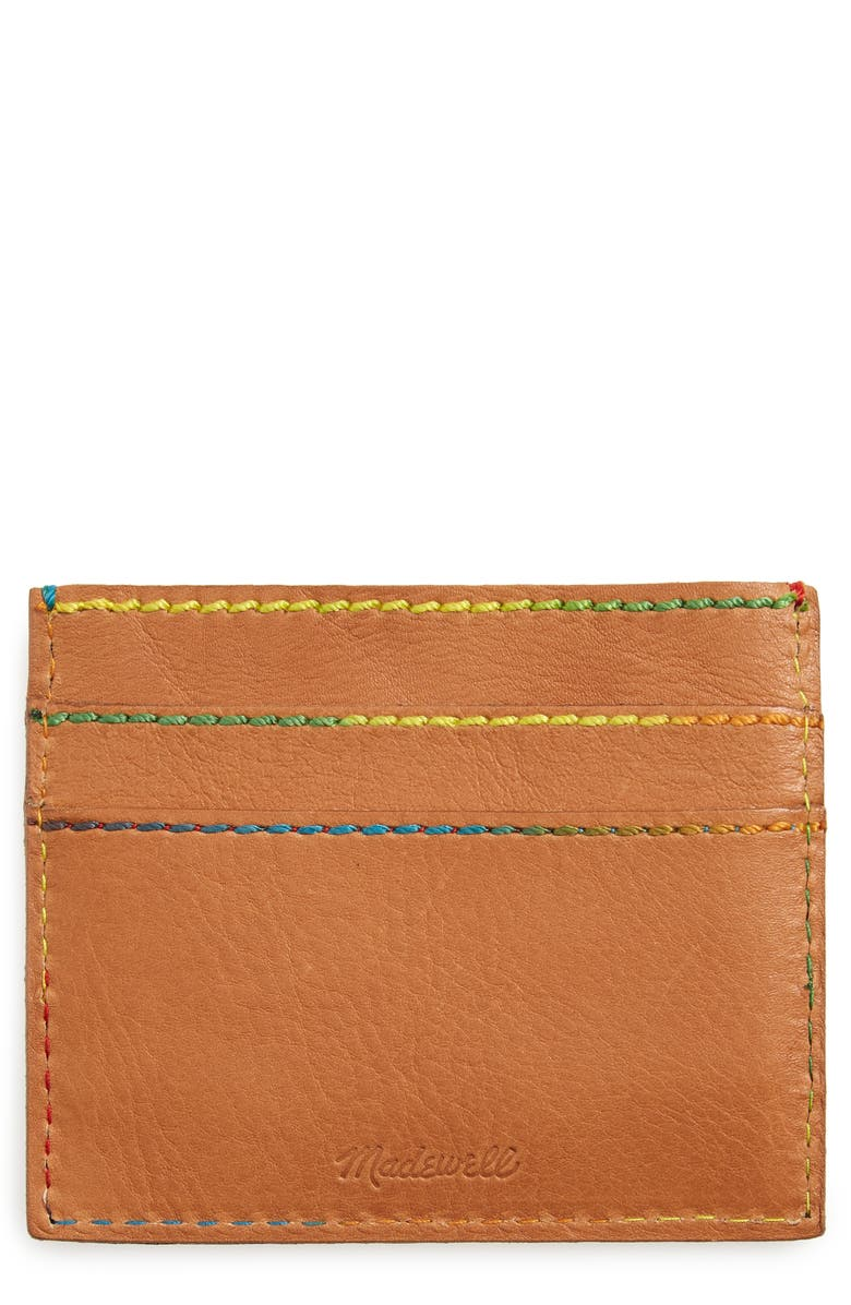 MADEWELL The Leather Card Case, Main, color, 250