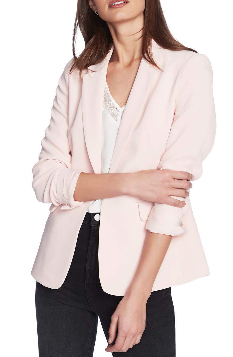 1.STATE Texture Crepe Blazer, Main, color, BALLET ROSE