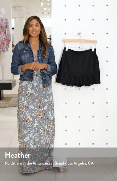 Eyelet Linen Shorts, sales video thumbnail
