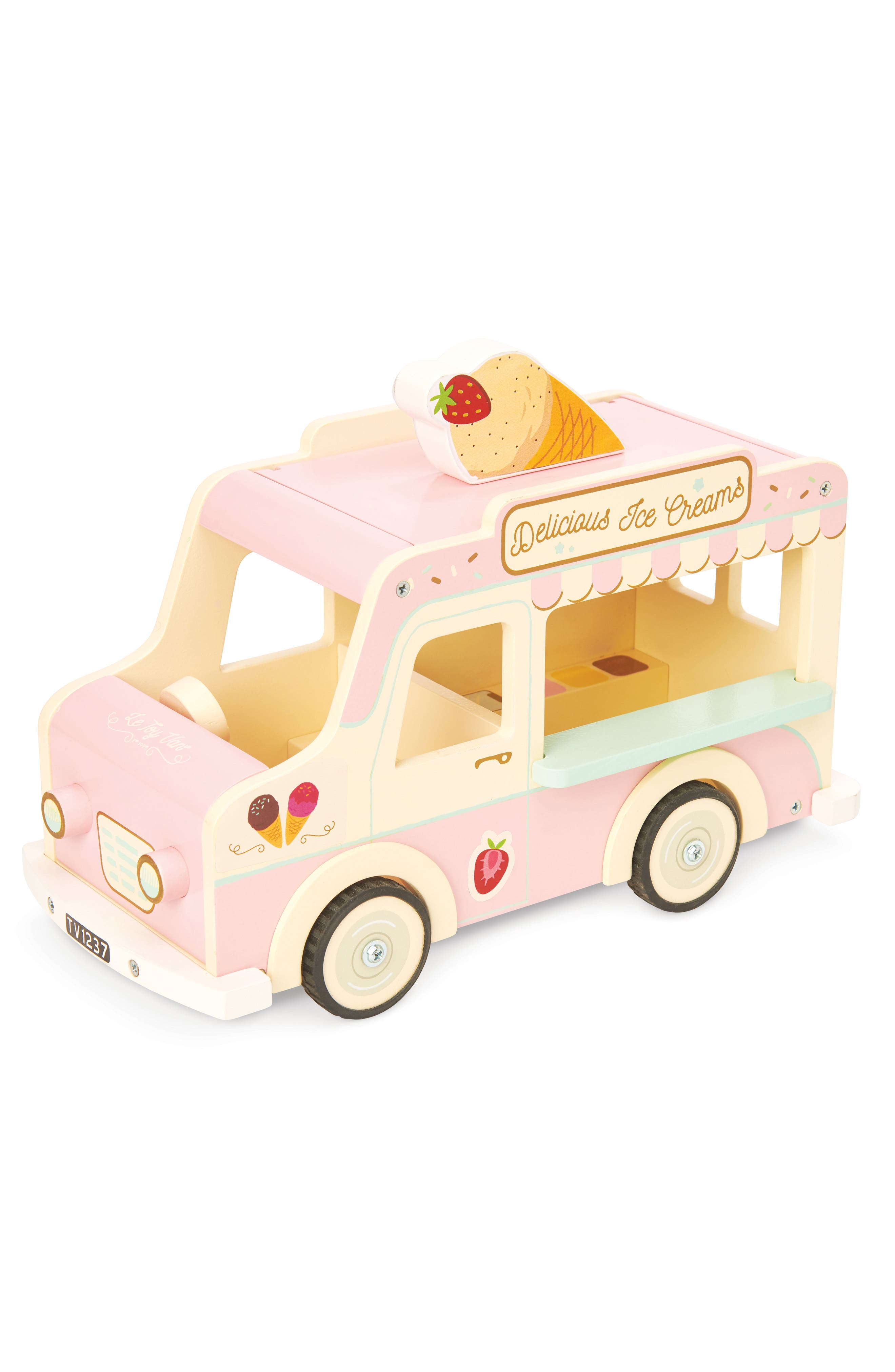 Kids will love the darling design of this old-school toy ice cream truck complete with a sheet full of stickers for fun personalization. Style Name: Le Toy Van Dolly Ice Cream Toy Van. Style Number: 6124932. Available in stores.