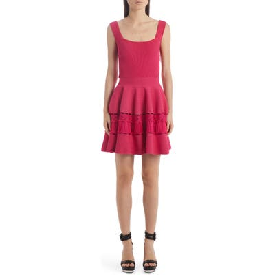 Alexander Mcqueen Ladder Stitch Panel Sweater Dress, Pink