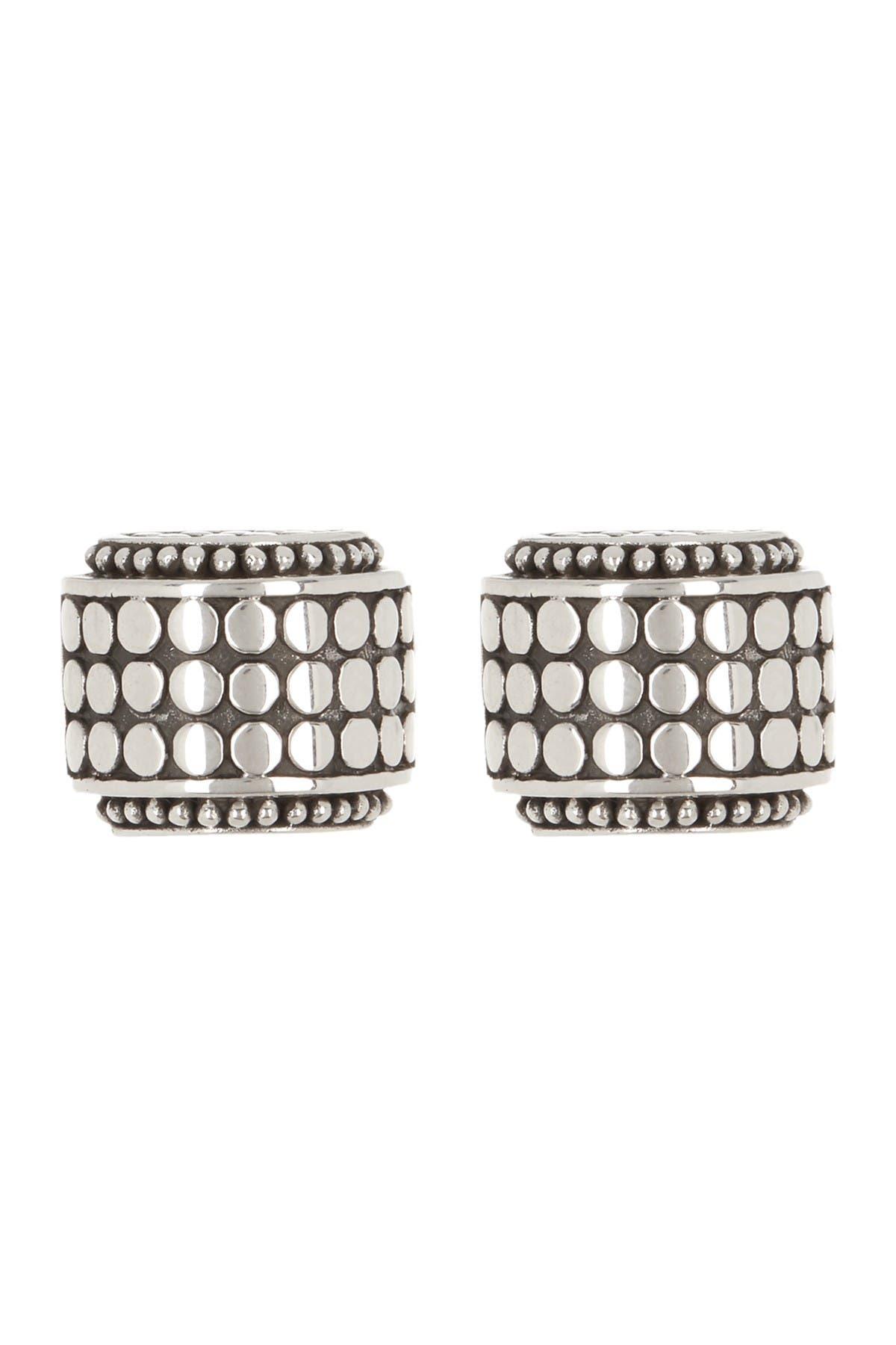 Image of JOHN HARDY Dot Sterling Silver Small Hi-Way Earrings