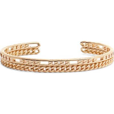 Sterling Forever Chain Link Cuff Bracelet