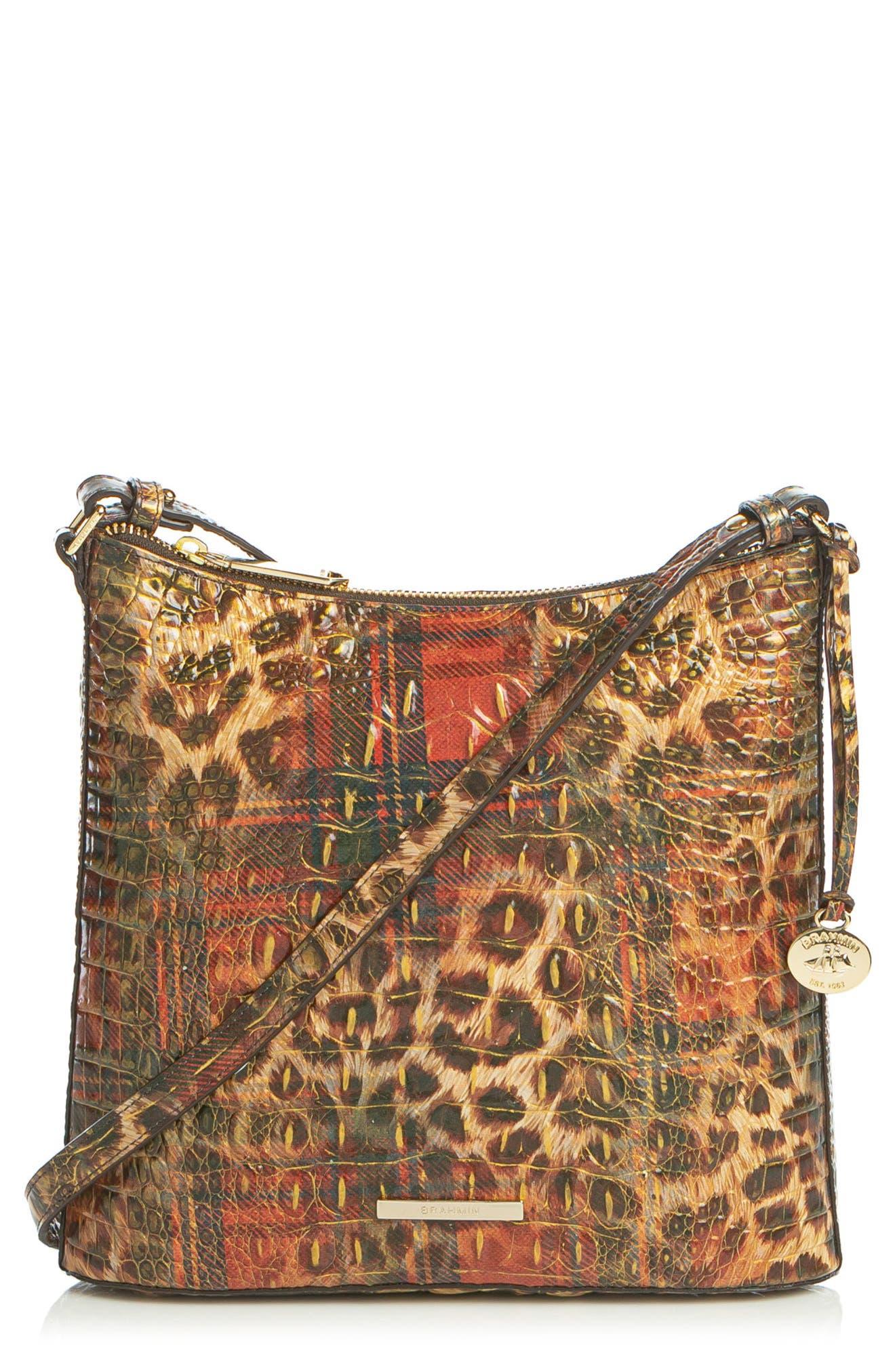 Katie Croc Embossed Leather Crossbody Bag