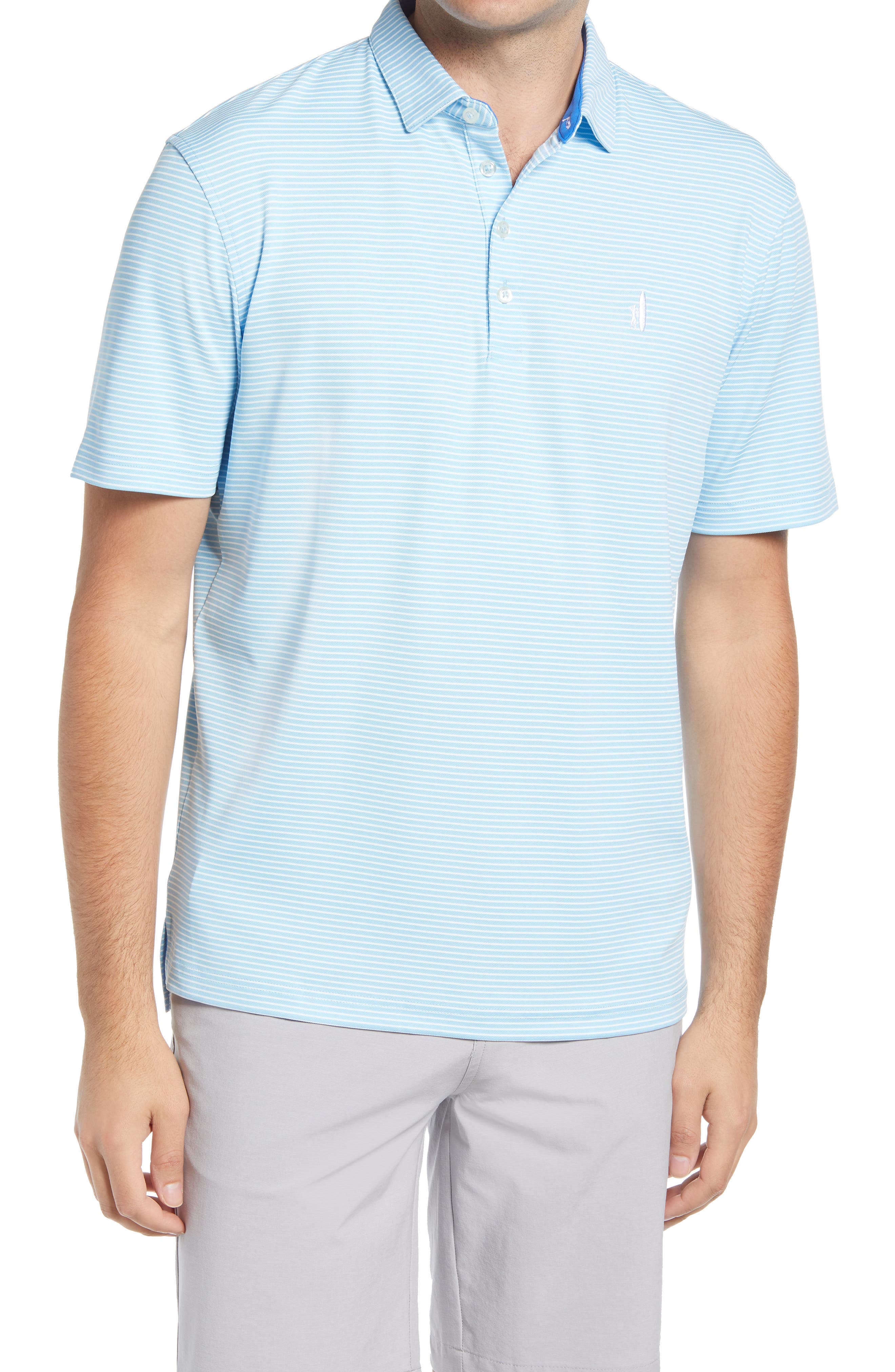 Merrins Hangin' Out Stripe Performance Polo