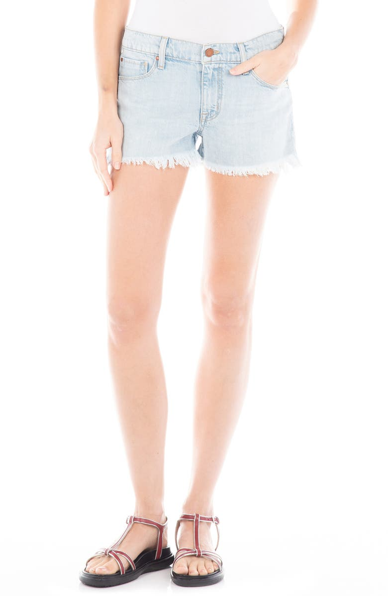 FIDELITY DENIM High Waist Rocco Shorts, Main, color, STELLAR