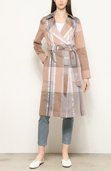 Evangelina Pavilion Plaid Trench Coat, video thumbnail