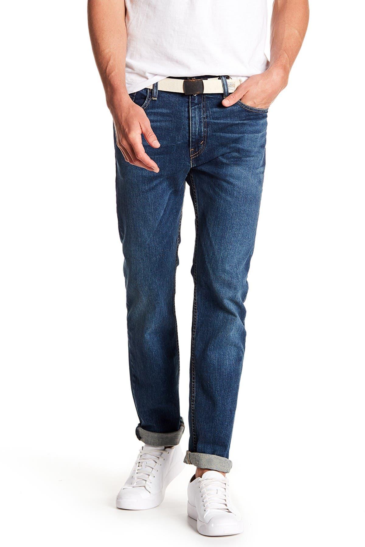 "Image of Levi's 513 Vines Slim Straight Fit Jeans - 30-34"" Inseam"