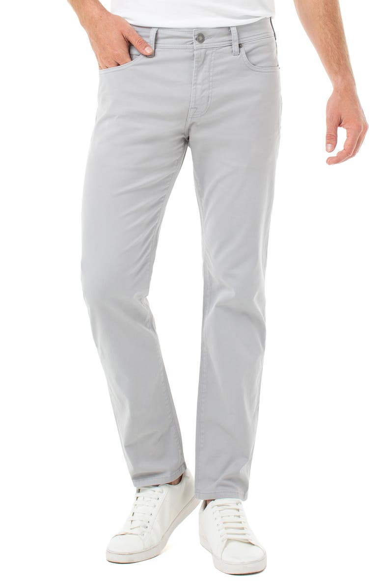 LIVERPOOL Regent Relaxed Straight Leg Twill Pants, Main, color, FOG