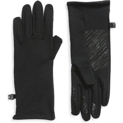 Icebreaker Quantum Tech Touchscreen Compatible Merino Wool Glove Liners, Black