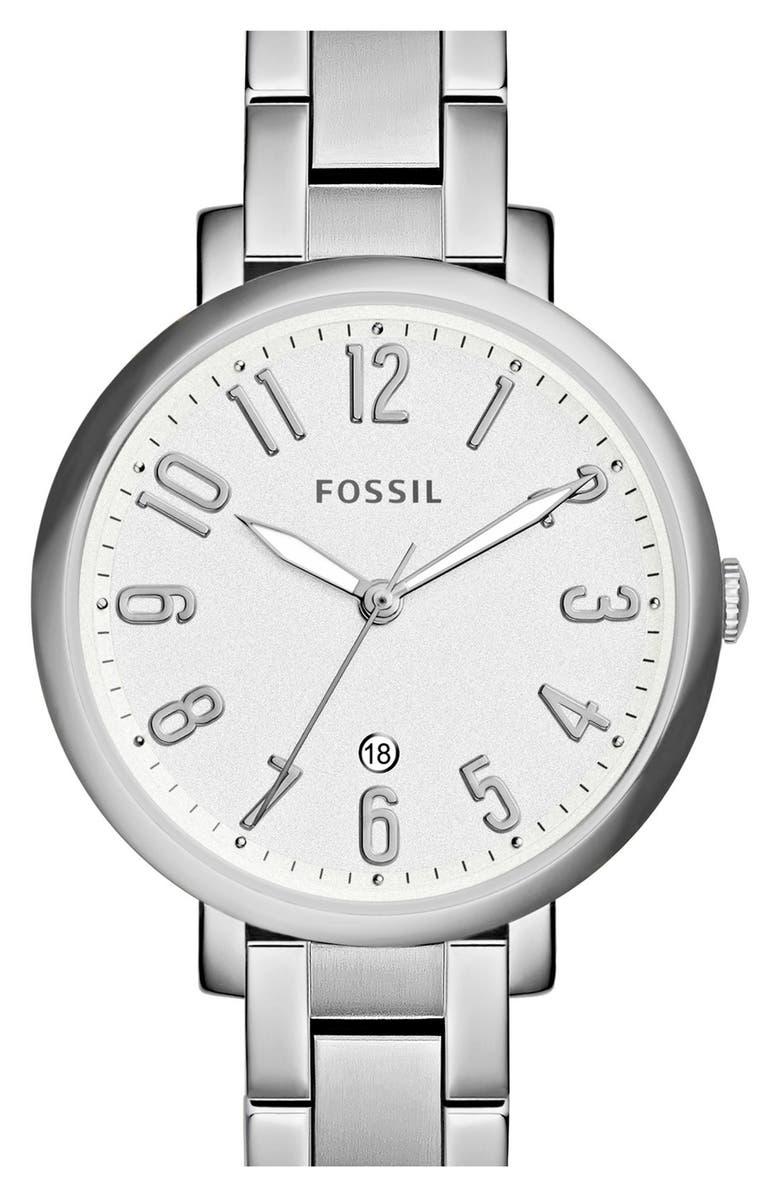 FOSSIL 'Jacqueline' Bracelet Watch, 36mm, Main, color, 040