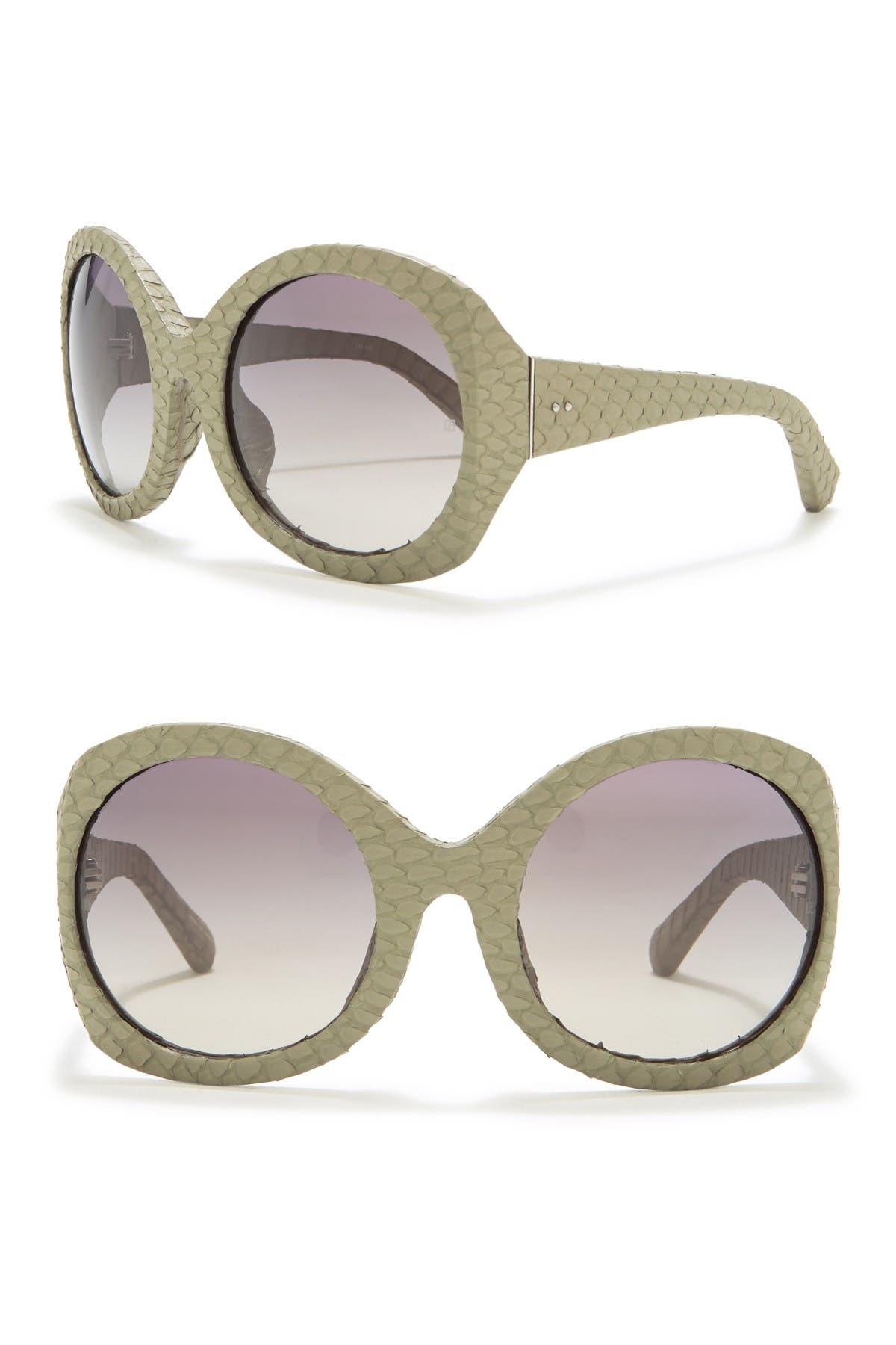 Image of Linda Farrow Oversize Round Sunglasses