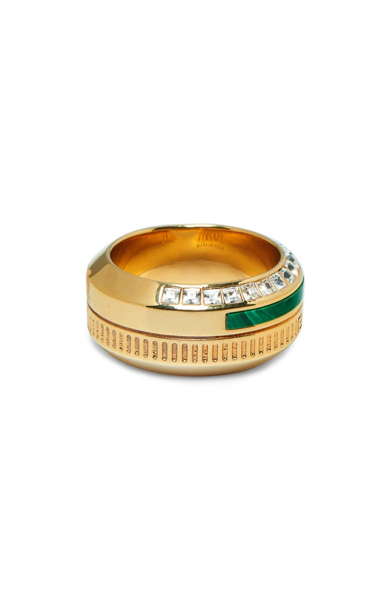 VERSACE Crystal Pavé Ring, Main, color, 340