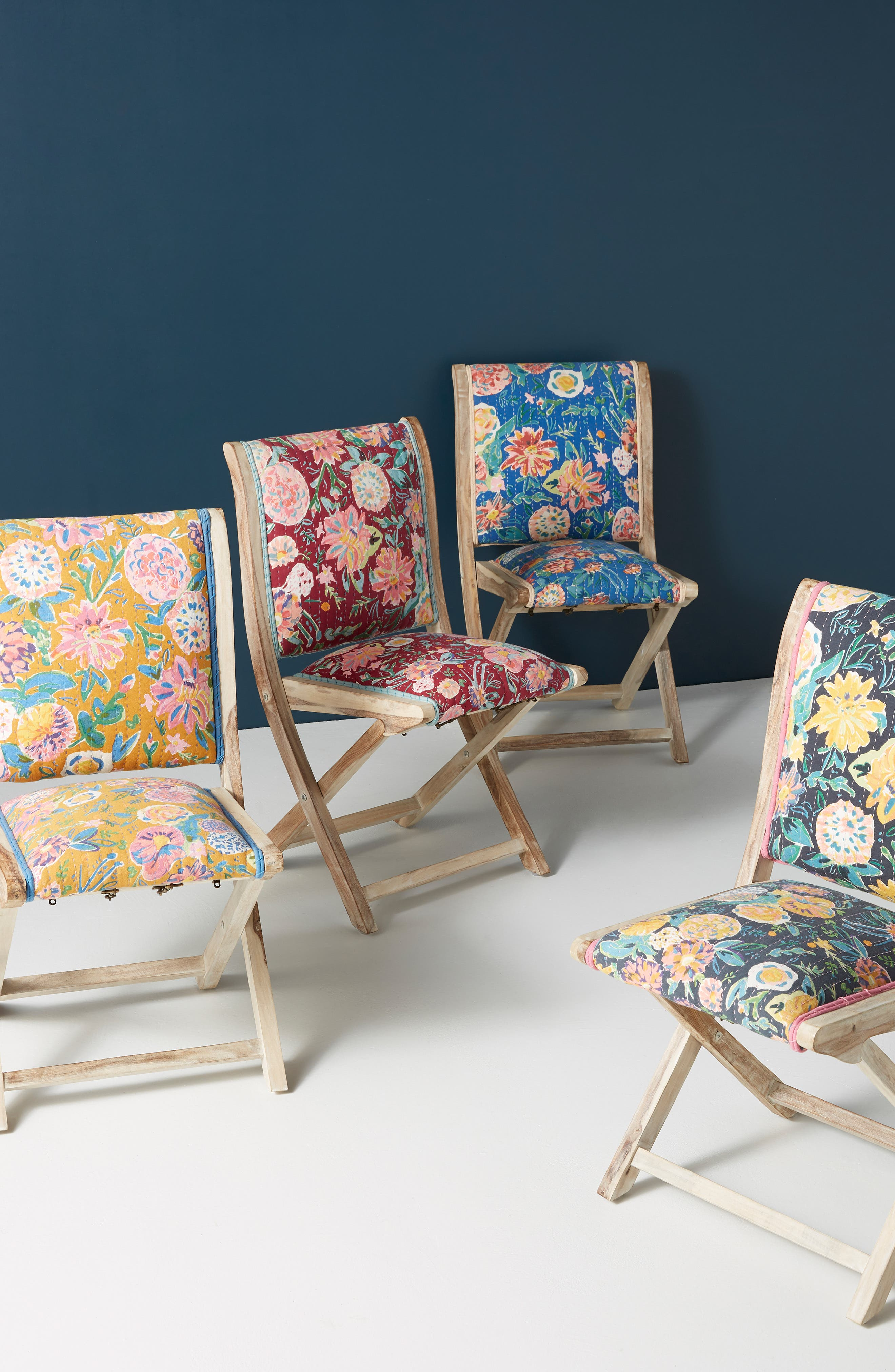 Emma Terai Folding Chair, Main, color, BLACK MULTI