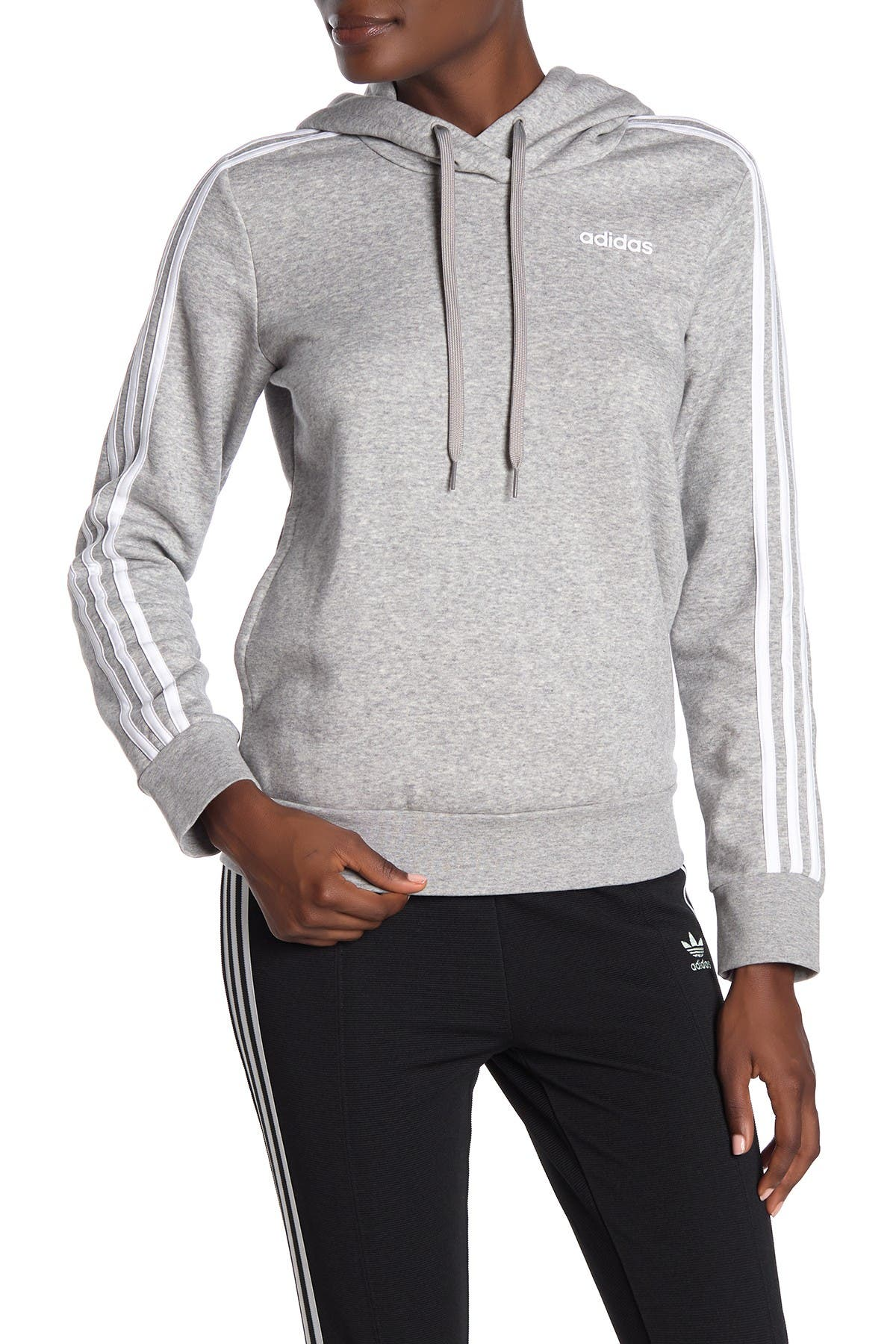 Image of adidas 3-Stripes Drawstring Hoodie