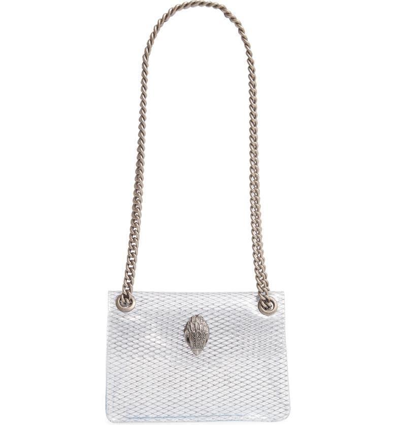 KURT GEIGER LONDON Mini Kensington Transparent Shoulder Bag, Main, color, WHITE