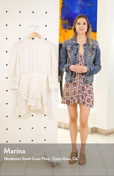 Lorelei Ruffle Eyelet Cotton Minidress, sales video thumbnail