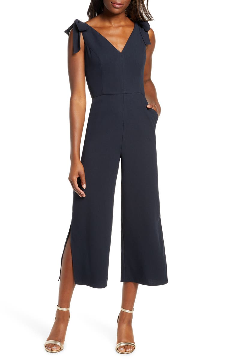 LILLY PULITZER<SUP>®</SUP> Danni Crop Jumpsuit, Main, color, ONYX