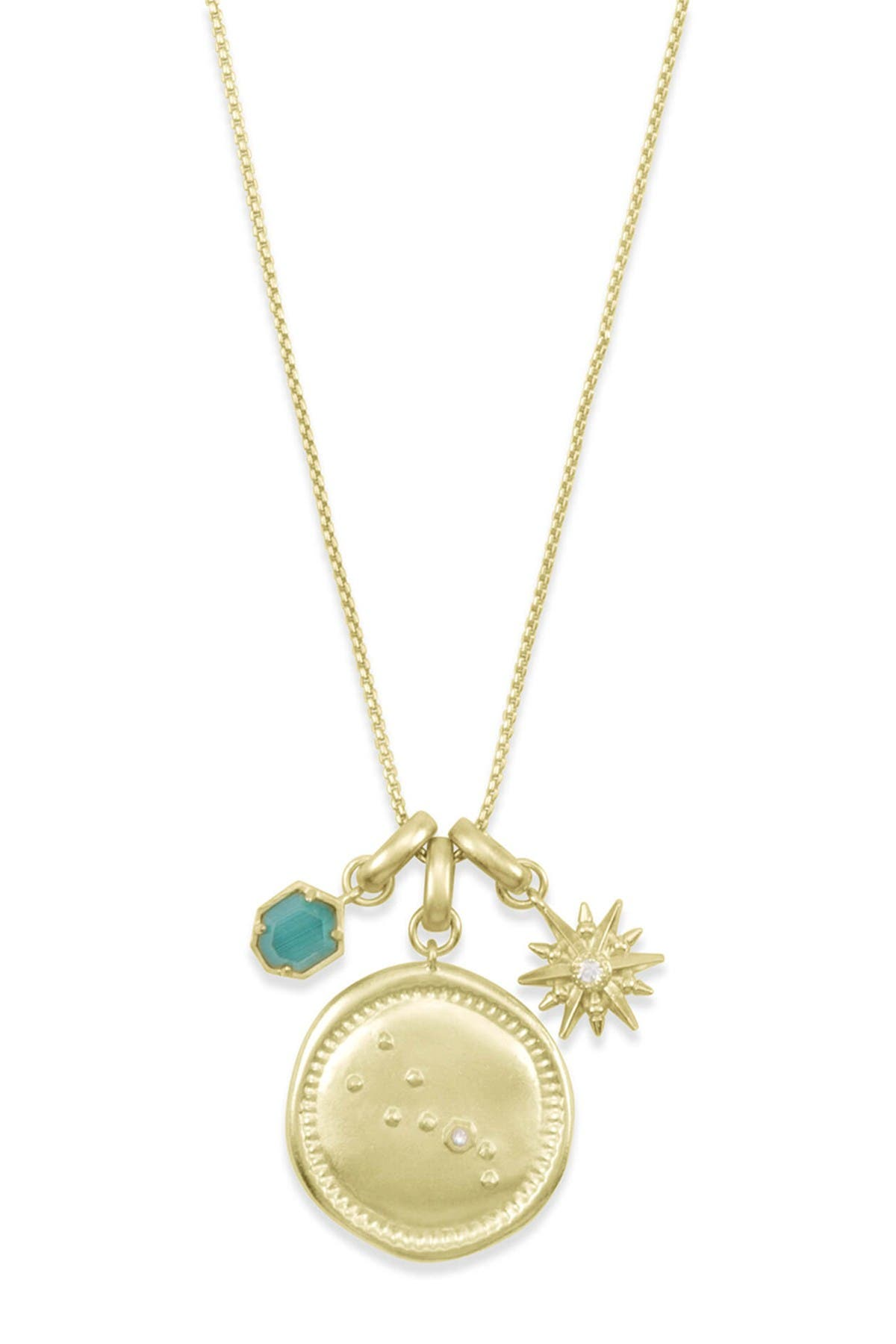 Image of Kendra Scott 14K Gold Plated Taurus Charm Necklace