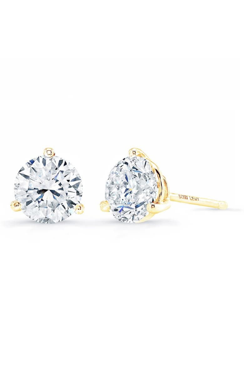 BONY LEVY Diamond Stud Earrings, Main, color, YELLOW GOLD
