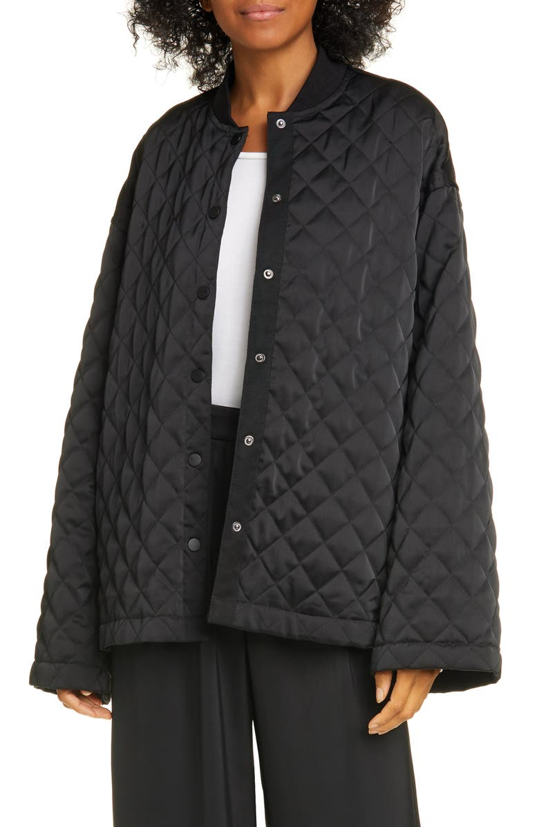 ATM ANTHONY THOMAS MELILLO Oversized Quilted Jacket, Main, color, BLACK