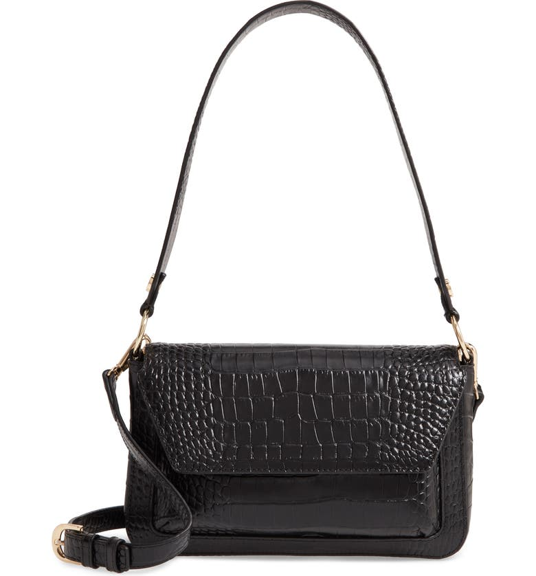 Nordstrom Stella Croc Embossed Leather